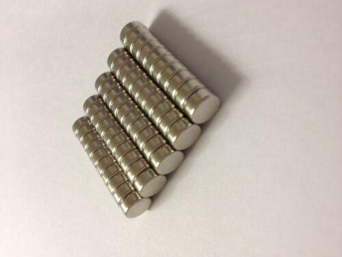 Super Magnete Büro 7X3mm  Büpro Pinnwand 50 Stück Neodym N42 0,26€//Stk