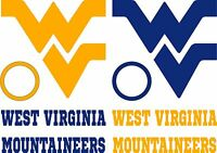 Wv Wvu Cornhole Board Decal Set Of 6 Vinyl Decals Mountaineer Corn Hole Sticker