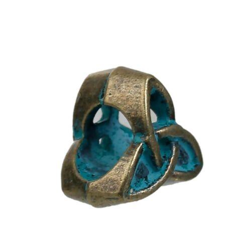 PD 20 Stück Zinklegierung Patina Zwischenperlen Spacer Perlen Keltischer Knoten