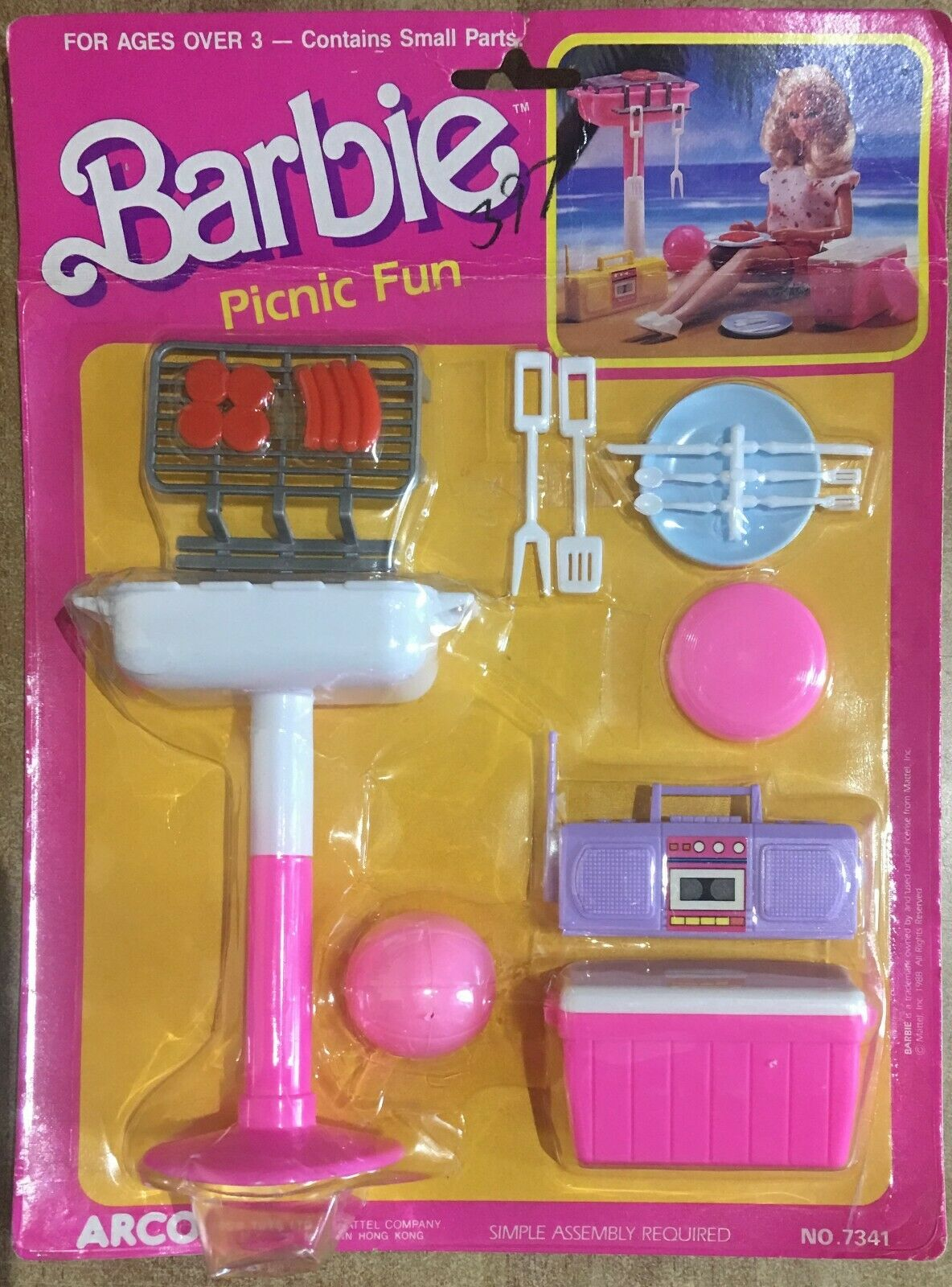 Barbie Picnic divertimento Grill Grill Grill Set Arco by Mattel Vintage 88' RARO  d71acf