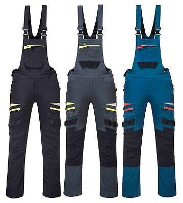 Size: Small Portwest DX4 Work Bib and Brace Black DX441BKRS