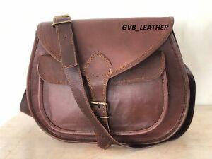 Hobo Purse Women Vintage Brown Leather Messenger Cross Body Bag Handmade