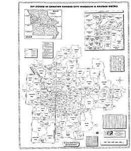 Details about Kansas City Missouri Kansas Metro Laminated Zip Code on zip codes by city, zip code tabulation area, map of missouri, zip codes by state,