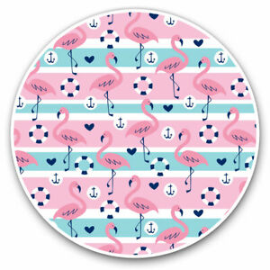 2-x-Vinyl-Stickers-7-5cm-Nautical-Pink-Flamingo-Birds-Cool-Gift-15944