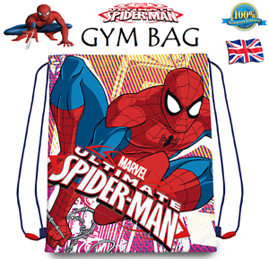 Spiderman Drawstring Gym Bag Shoe Trainer Swimming Pe Marvel School Bag Gift