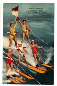 Pyramid of Water Skiers, Cypress Gardens, Florida Art