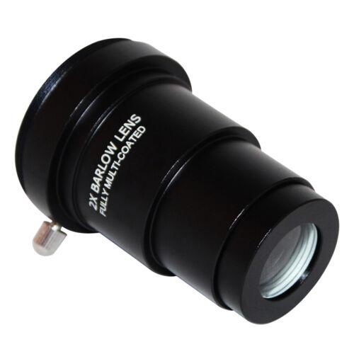 1,25 Zoll 2X Barlow Linse Objektiv mit M42-Gewinde für Teleskop Okular