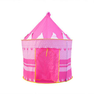 Image is loading Foldable-Pop-Up-Play-Tent-House-Kids-Girl-  sc 1 st  eBay & Foldable Pop Up Play Tent House Kids Girl Princess Castle Outdoor ...