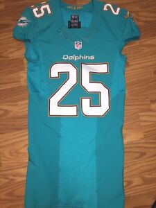 official photos 83e1b 1aa7c Details about Xavien Howard Miami Dolphins Game Used Worn Jersey #25 Baylor  Bears Top Corner