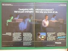 2/1984 PUB TEKTRONIX MICROPROCESSORS SOFTWARE VAX DIGITAL COMPUTER ORIGINAL AD