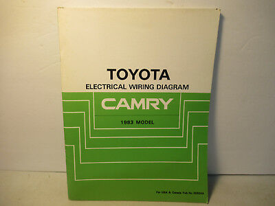 Toyota Camry Electrical Wiring Diagram Manual 1983 Factory ...