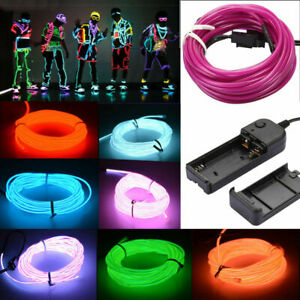Details about Glow LED Light El Wire String Strip Rope Car Dance Party LOVE  +3V/12V/USB Switch