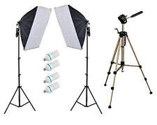 900w Photo Video Continuous Softbox Lighting Kit w/ WT330A Tripod