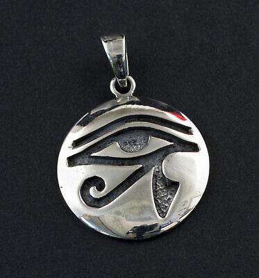 Pendentif Oeil d/' Horus Oudjat Egypte Argent 925 Peterandclo  K50 6920