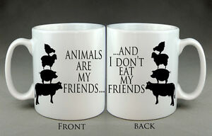 Image Is Loading Animals Are My Friends Mug Gift Birthday Present