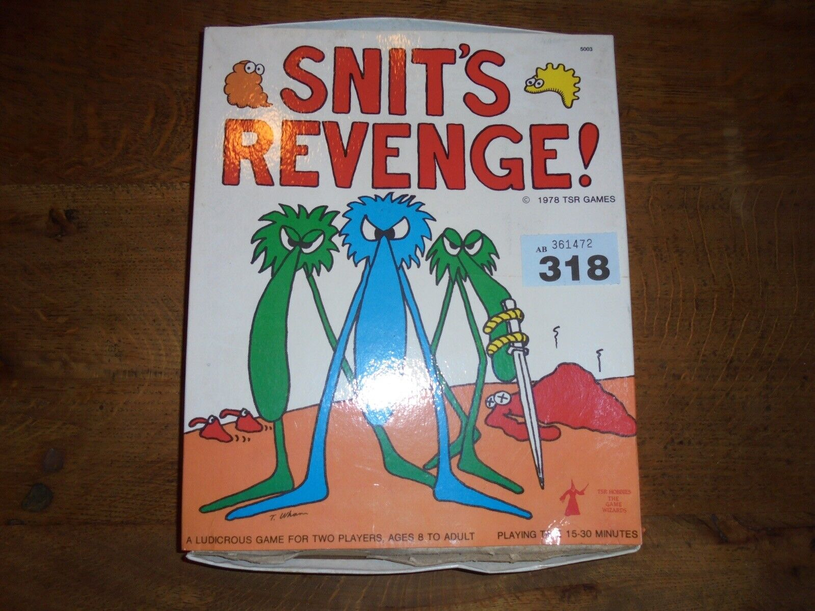 Snits Revenge Board Game by TSR Fantasy Game Complete Rare Game