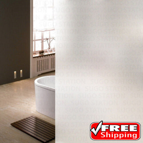 """24/""""x12FT White Frosted Window Tint Glass Privacy Film EASY DIY Home//Office//Store"""