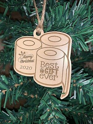 Popular Christmas Ornaments 2020 Toilet Paper Christmas Ornament 2020 Wood Best Gift Ever