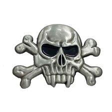 Pin's Biker épinglette Tête de mort Skull Bones Vampire sacoche moto