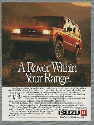 1989 Isuzu Impulse Turbo Classic Advertisement Ad P63