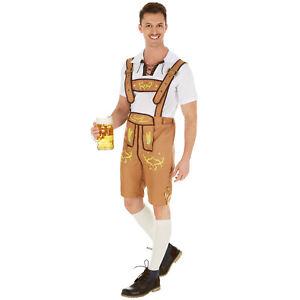 Costume pour hommes traditionnel bavaroise bière allemande oktoberfest carnaval