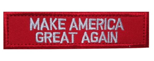 Make America Great Again Donald Trump Embroidered Hook Loop MAGA Patch RED