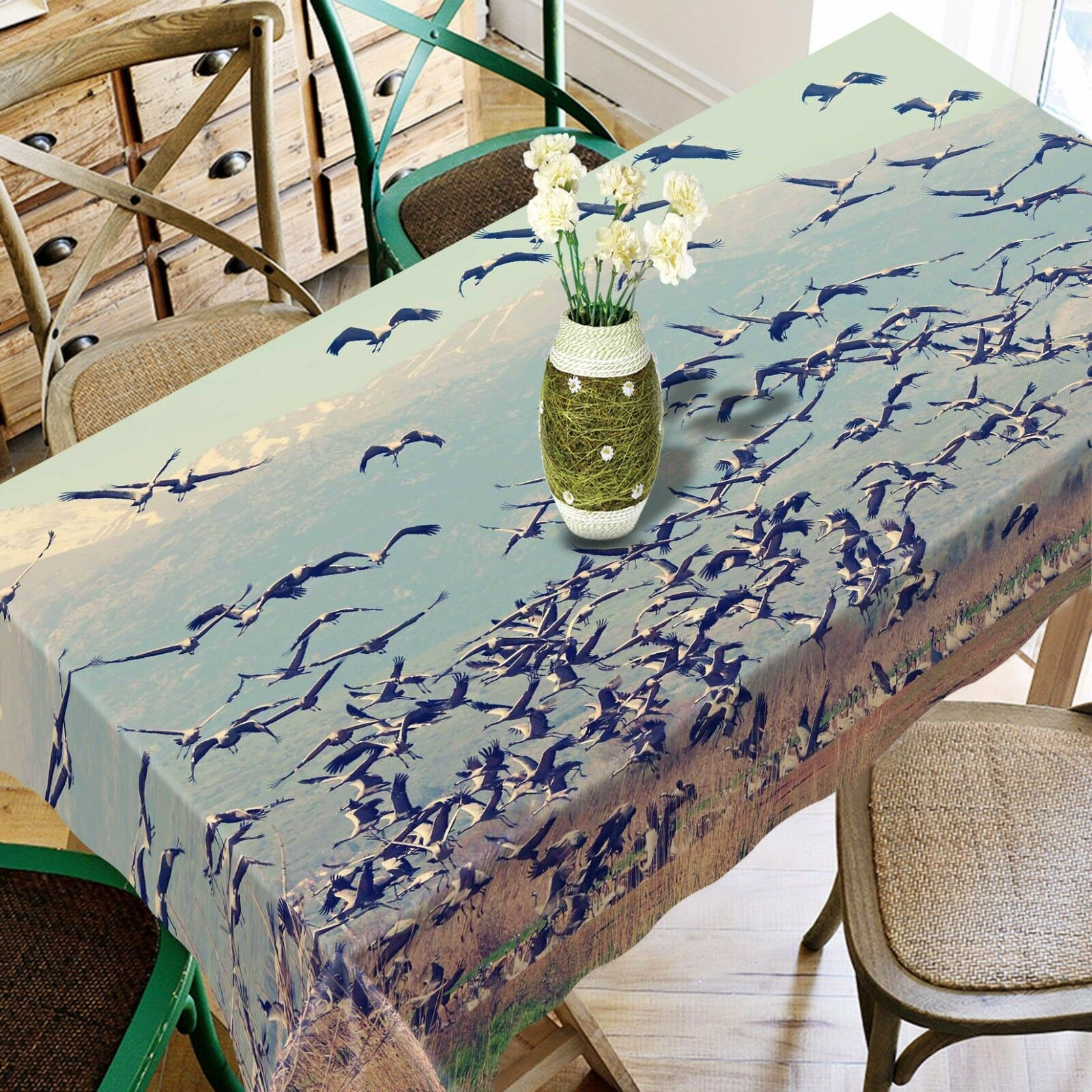 3D Migratory Bird Tablecloth Table Cover Cloth Birthday Party Event AJ WALLPAPER
