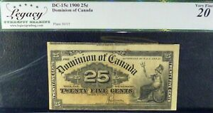 DOMINION-OF-CANADA-1900-25-CENTS-CUTTING-ERROR-PREVIOUS-NOTE-SHOWING