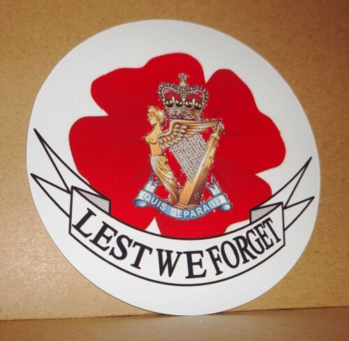 Royal Ulster Rifles Coquelicot Vinyle Autocollant