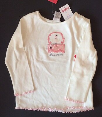 180 T-Shirt Top NWT Gymboree Girls Pink /& Blue Striped Long Sleeve