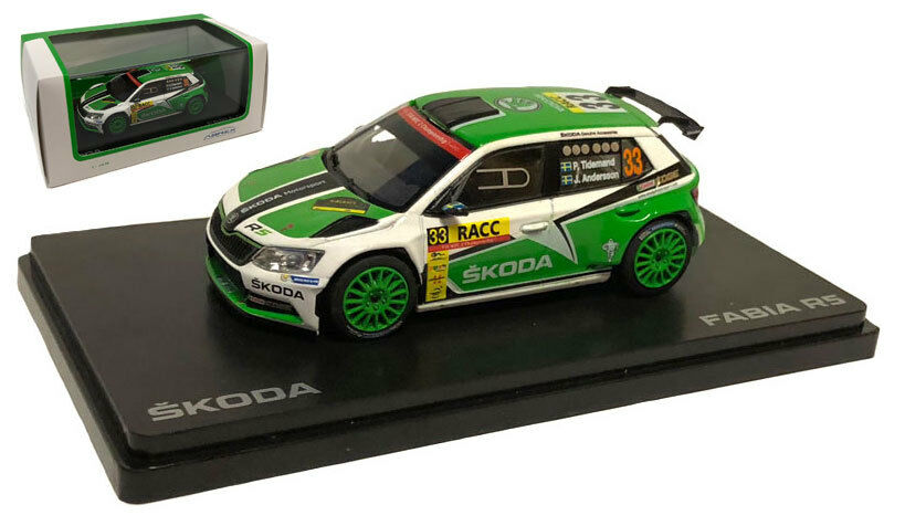 Abrex Skoda Fabia III R5 Catalunya Rally 2016 - Pontus Tidemand 1 43 Scale