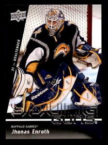 2009-10-Upper-Deck-239-Jhonas-Enroth-Leafs-Rookie-Young-Guns-ref-20252