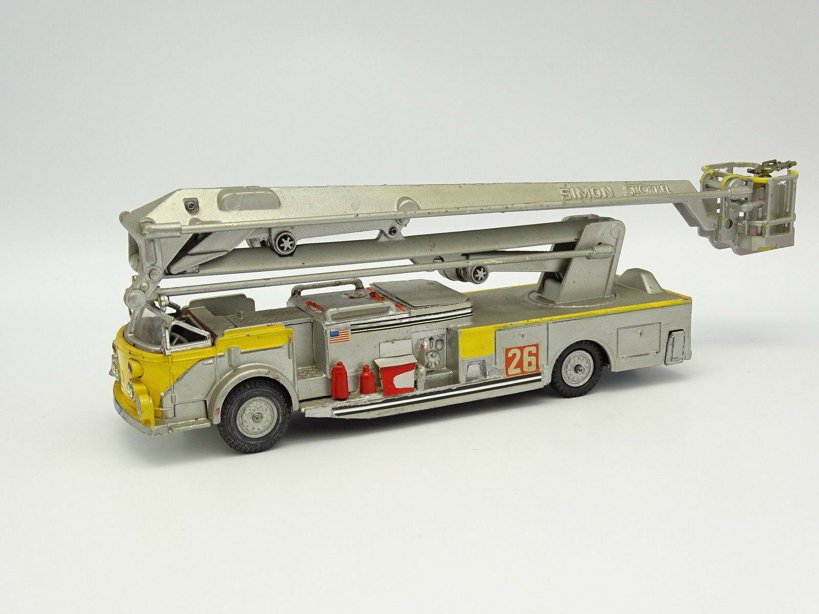 en venta en línea Corgi Modifié 1 43 - Aerial Rescue Tractor + + + Nacelle Simon Snorkel Pompiers gris  punto de venta