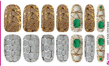 Nail Sticker Nagel Finger, Fuß nägel Tattoo Aufkleber Metallic Gold Silber