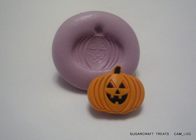 Halloween Pumpkin Silicone Mould Mold, Sugarcraft, Cake Decorating Crafts Fimo