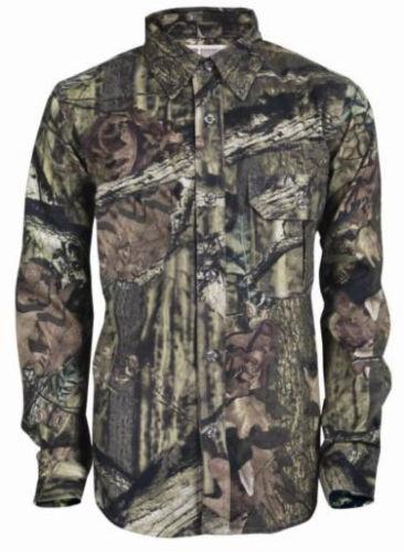 NEW M LG XL Russell Junior Mossy Oak Explorer Long Sleeve Shirt Youth Kids Child