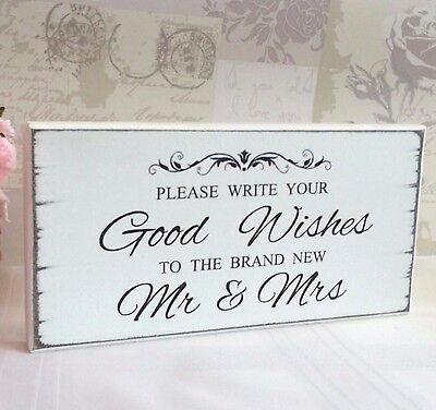 Wedding Guest Book Book Sign Good Wishes Free Standing Shabby Vintage Chic