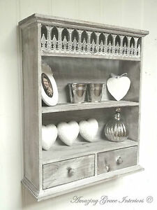 shabby chic bathroom cabinets wall shabby chic wall unit shelf storage cupboard cabinet 24094