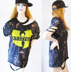 0479706852bc Wu tang clan bleached distressed shirt dress or tunic S-XL tshirt ...