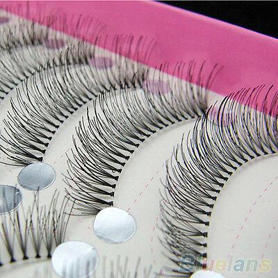 10Pairs Hot Natural Thick Long False Eyelashes Eye Lashes Voluminous Makeup Set