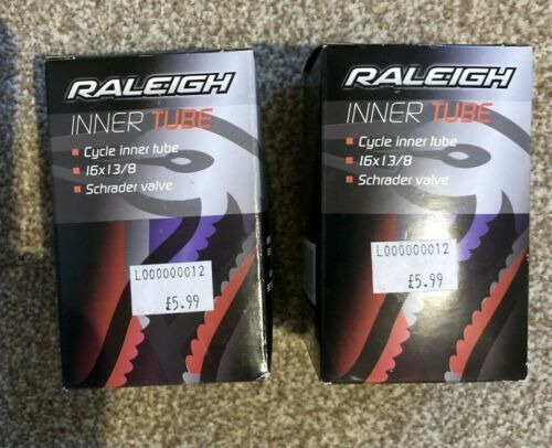 2 X Raleigh Cycle Inner Tube 16 x 1 3//8 Schrader TA454