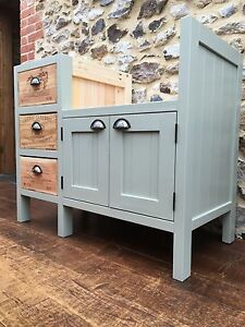 Image Is Loading 3 Drawer Wine Box Belfast Sink Unit Solid