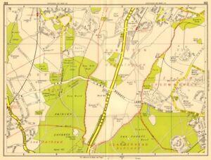 London Sw Map.Details About London Sw Chessington Claygate Oxshott Surbiton Epsom Geographers A Z 1956 Map
