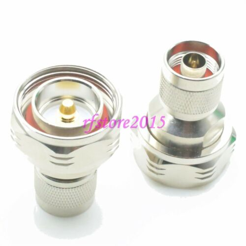 1pce Adapter Connector 7//16 DIN male plug to N male plug for Communication