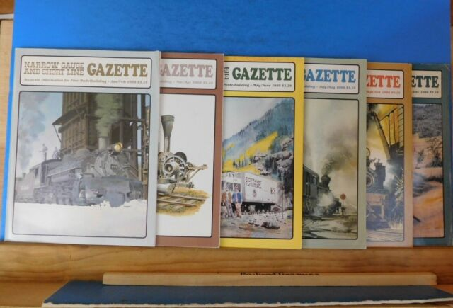 Narrow Gauge & Short Line Gazette Complete Year 1988 6