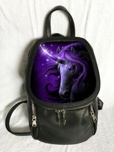 Black-Magicl-Backpack-featuring-3D-Image-of-Unicorn