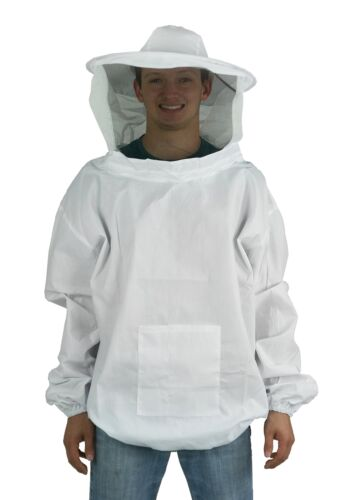 Beekeeping Pull Over Jacket Smock with Veil Large Professional Bee Keeping Suit