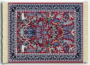 Mouserug Mouse Pad Tree Of Life Deer Oriental Rug New
