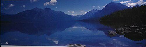 Blue Mountain and Lake Reflection by David Munch Photograph 36x12 Print Poster