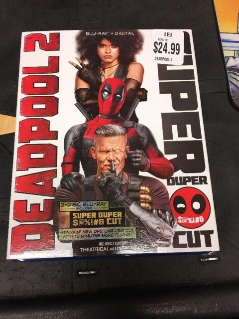 Deadpool 2 (Blu-ray+Digital, 2018 2-Disc Super Duper Cut) +Slipcover New